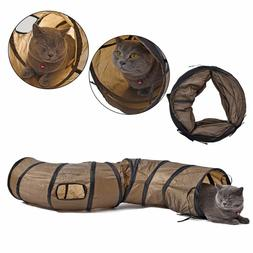 Collapsible Cat Tunnel 1.2m Indoor Outdoor S Shape Fun Cat T