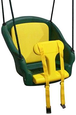 Backyard Discovery 2000com 2-In-1 Safe-T-Swing, Green/Yellow