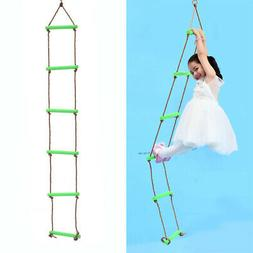 120KG Kids Outdoor Playhouse 6 Rungs 2m Rope Climbing Ladder