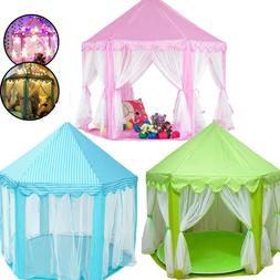 3Color Princess Castle Pop Up Play Tent Kids Girl Play House