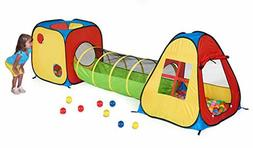 3in1 Pop Up Play Tent with Tunnel BallPit for Kids Indoor Ou