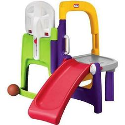 Little Tikes 4-in-1 Fold Away Climber with Basketball Hoop,