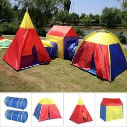 5 In 1 Kids Tunnel Tents Indoor Play House Tent Folding Outd
