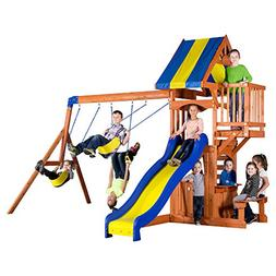 Backyard Discovery Peninsula All Cedar Wood Playset Swing Se