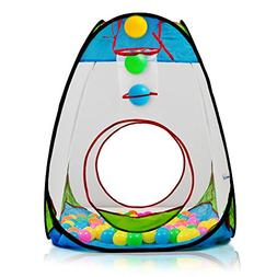 "Dimple Children's Pop Up Playhouse Tent with Set of ""100"