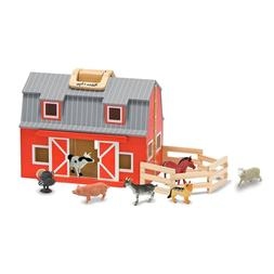 Melissa Unisex and Doug Wooden Fold Go Barn Set No Color One