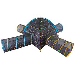Pacific Play Tents Kids Galaxy Combo Dome Tent with 4 Tunnel