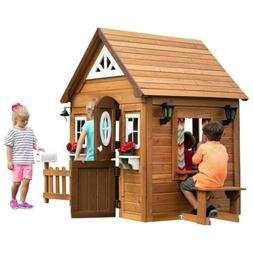 Backyard Discovery Aspen All Cedar Outdoor Wooden Playhouse
