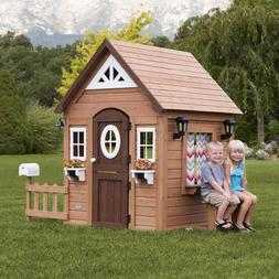 aspen all cedar outdoor wooden playhouse