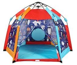 UTEX Automatic Instant 6 Kids Play Tent for Indoor/ Outdoor