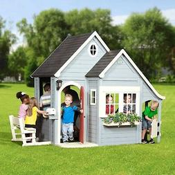 Backyard Discovery Spring Cottage Cedar Playhouse Outdoor Ki