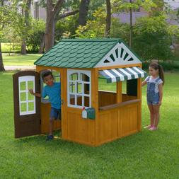 Backyard Wooden Playhouse Kids Outdoor Yard Fun Play House C
