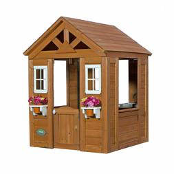 Backyard Wooden Playhouse Kids Timberlake Cedar Outdoor Chil