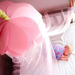 Canopy For Girls Bed Tent | Fairy Princess Pink Flower Mosqu