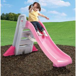 Step2 Big Folding Slide, Pink, Plastic Slide and High-Side R