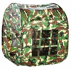 Biscount Big Green Camouflage Canopy Pop-UpPlay Tent Indoor