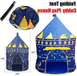 Blue Cubby Play House Child Camping Tent Beach Garden Outdoo