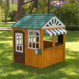 Brown Fun Large Windows Canopy Plastic Kids Child Cedar Gard