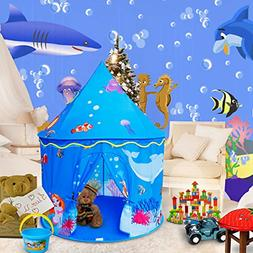 ALPIKA Castle Play Tent Mermaid Indoor and Outdoor Kids Play