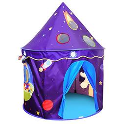 ALPIKA Kids Castle Playhouse Children Play Tent with Space P