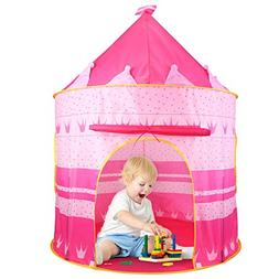 Castle Tent Play Tent Playhouse for Kids Indoor Outdoor Prin
