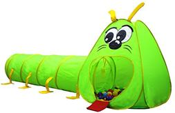 Kiddey Caterpillar Play Tunnel and Tent Combo  – Kids Craw
