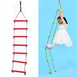 Children Outdoor Playhouse 6 Rungs 2m Rope Climbing Ladder S