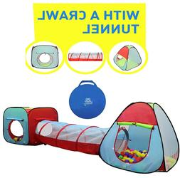 childrens dual play tent w tunnel 3piece