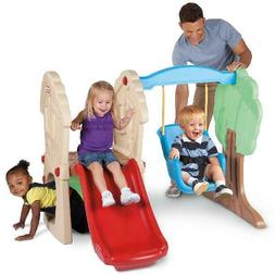 Climber & Swing Kids Outdoor Play Set Treehouse Playground S