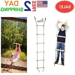 Squirrel Products 6 ft. Climbing Rope Ladder for Kids - Swin