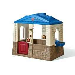 Cottage Playhouse Outdoor Kids Toy Children Plastic Backyard