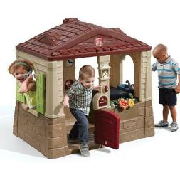 Cottage Playhouse Toddlers Outdoor Kids Play Yard Fun Toys w