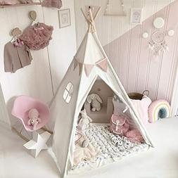 Large Cotton Canvas Kids Teepee Tent Childrens Wigwam Indoor
