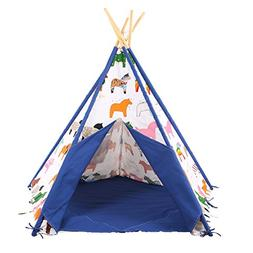 Pericross Kids Teepee Tent Indian Play Tent Children's Playh