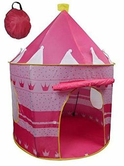 POCO DIVO Crown Princess Castle Girls Outdoor Tent Pink Indo