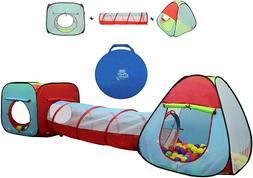 Kiddey 3pcs Cubby-tunnel-teepee Pop-up Kids Play Tent Ideal