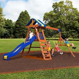 dayton cedar wood playset swing