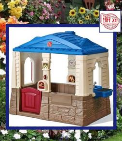 Deluxe Cottage Playhouse Patio Outdoor Play House Activity P