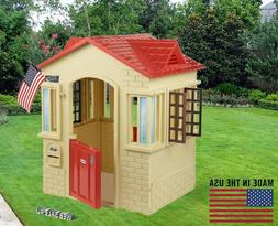 Deluxe Playhouse Outdoor Indoor Large Kids Home Garden Cotta