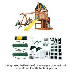 diy backyard play set custom kids swing
