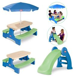Little Tikes Easy Store Picnic Table with Umbrella & Jr. Pla