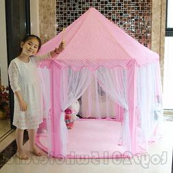 Fashion Girls Princess Play Tent Castle Playhouse Children K
