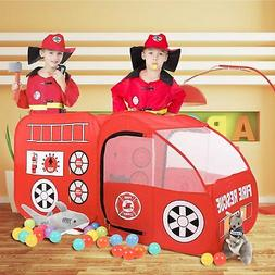 Springbuds Fire Truck Kids Play Tent, Kids Room Decor Playho