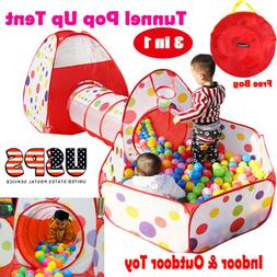 Foldable Kids Portable Pit Tunnel Ball Pool Outdoor Indoor B