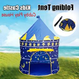 Folding Castle Cubby Play House Indoor/Outdoor Kids Playing