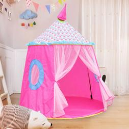 Folding Play Tent Princess Girl Kids Castle Play House Large