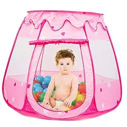 Famoy Folding Princess Ball Pit Tent for Girls Indoor and Ou