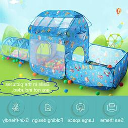 Folding Toddler Kids Play Tent Crawl Tunnel Indoor Outdoor P