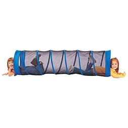 Pacific Play Tents Fun Tube Tunnel - Blue with Black Mesh