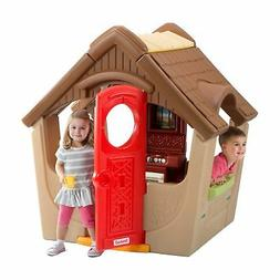 Simplay3 Kids Garden View Playhouse with Chimney and Play Ki